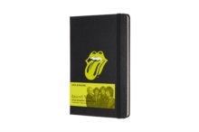 Moleskine Rolling Stones Limited Edition Black Large Ruled Notebook Hard, Paperback Book