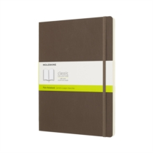 Moleskine Earth Brown Notebook Extra Large Plain Soft, Paperback Book