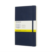 Moleskine Sapphire Blue Notebook Large Squared Soft, Paperback Book