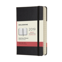 2019 Moleskine Notebook Black Pocket Daily 12-month Diary Hard, Paperback Book