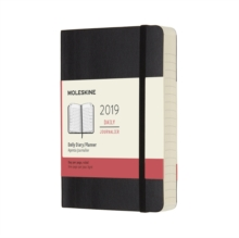 2019 Moleskine Black Pocket Daily 12-month Diary Soft, Paperback Book