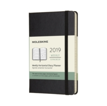 2019 Moleskine Black Horizontal Pocket Weekly 12-month Diary Hard, Paperback Book