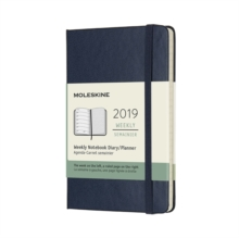 2019 Moleskine Notebook Sapphire Blue Pocket Weekly 12-month Diary Hard, Paperback Book