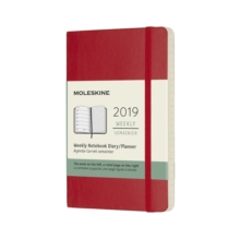 2019 Moleskine Notebook Scarlet Red Pocket Weekly 12-month Diary Soft, Paperback Book