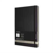 2019 Moleskine Vertical Black A4 Weekly Pro Planner 12-month Hard, Paperback Book