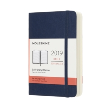 2019 Moleskine Sapphire Blue Pocket Daily 12-month Diary Soft, Paperback Book