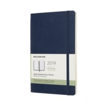 2019 Moleskine Notebook Sapphire Blue Large Weekly 12-month Diary Soft, Paperback Book