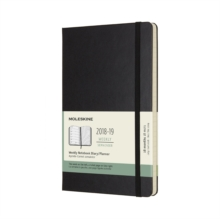 2019 Moleskine Notebook Black Large Weekly 18-month Diary Hard (July 2018 to December 2019), Paperback Book