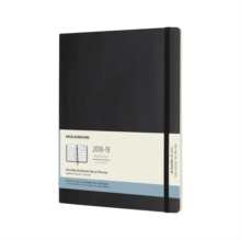 2019 Moleskine Notebook Black Extra Large Monthly 18-month Diary Soft (July 2018 to December 2019), Paperback Book