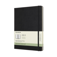 2019 Moleskine Notebook Black Extra Large Weekly 18-month Diary Hard (July 2018 to December 2019), Paperback Book