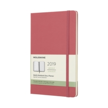 2019 Moleskine Notebook Daisy Pink Large Weekly 12-month Diary Hard, Paperback Book