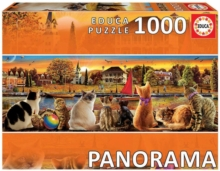 Educa Borras - Cats on the Quay 1000 piece Panorama Jigsaw Puzzle, Jigsaw Book