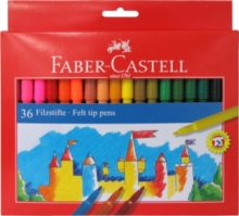 Faber Castell Fibre Pens Pack of 36,  Book