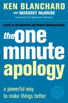 The One Minute Apology, Paperback Book