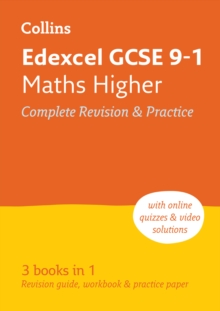 GCSE Maths Grade 9-1 Edexcel Higher Practice and Revision Guide with free online Q&A flashcard download, Paperback / softback Book