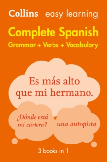 Easy Learning Spanish Complete Grammar, Verbs and Vocabulary (3 Books in 1), Paperback Book