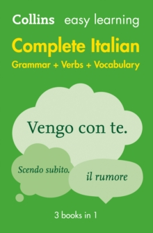 Easy Learning Italian Complete Grammar, Verbs and Vocabulary (3 Books in 1), Paperback Book