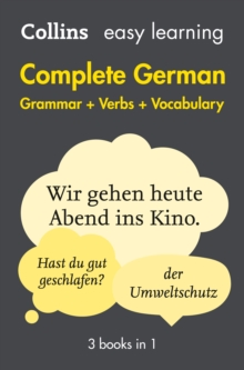 Easy Learning German Complete Grammar, Verbs and Vocabulary (3 Books in 1), Paperback Book