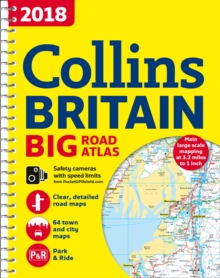 2018 Collins Big Road Atlas Britain, Spiral bound Book