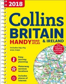 2018 Collins Handy Road Atlas Britain, Spiral bound Book