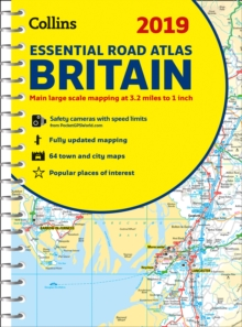 2019 Collins Essential Road Atlas Britain, Spiral bound Book