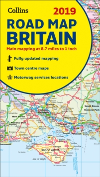 2019 Collins Map of Britain, Sheet map, folded Book