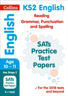 KS2 English Reading, Grammar, Punctuation and Spelling SATs Practice Test Papers : 2019 Tests, Paperback / softback Book