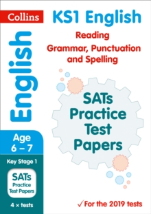 KS1 English Reading, Grammar, Punctuation and Spelling SATs Practice Test Papers : 2019 Tests, Paperback / softback Book