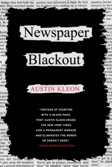 Newspaper Blackout, Paperback Book