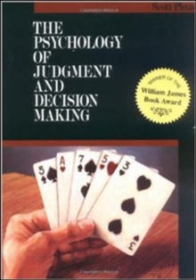 Psychology of Judgment and Decision Making, Paperback Book