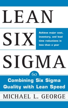 Lean Six Sigma, Hardback Book