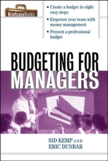 Budgeting for Managers, Paperback / softback Book