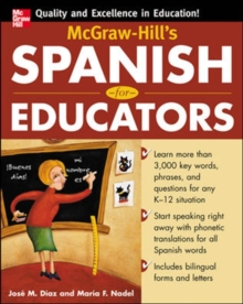 McGraw-Hill's Spanish for Educators w/Audio CD, Paperback / softback Book