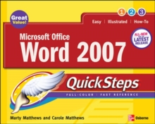 Microsoft Office Word 2007 Quicksteps, Paperback Book