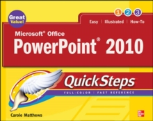 Microsoft Office PowerPoint 2010 QuickSteps, Paperback Book