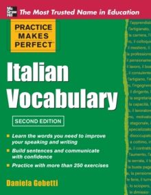 Practice Makes Perfect Italian Vocabulary, Paperback / softback Book