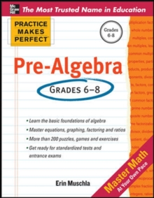 Practice Makes Perfect Pre-Algebra, Paperback / softback Book