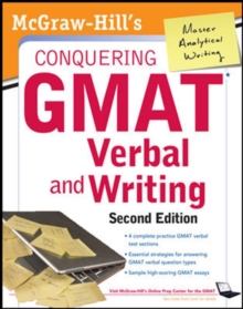 McGraw-Hills Conquering GMAT Verbal and Writing, Paperback / softback Book
