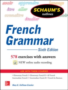 Schaum's Outline of French Grammar, Paperback / softback Book