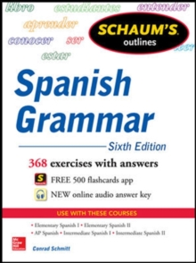 Schaum's Outline of Spanish Grammar, Paperback Book