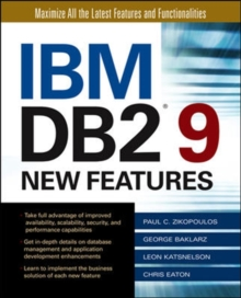 IBM DB2 9 New Features, Paperback / softback Book