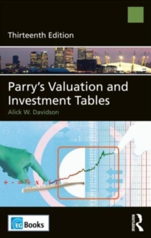 Parry's Valuation and Investment Tables, Hardback Book