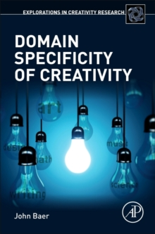 Domain Specificity of Creativity, Hardback Book