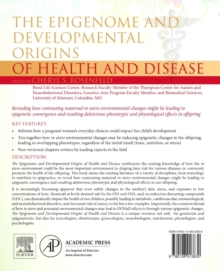 The Epigenome and Developmental Origins of Health and Disease, Paperback / softback Book