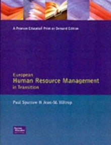 European Human Resource Management Trans, Paperback Book