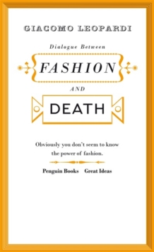 Dialogue Between Fashion and Death, Paperback Book
