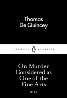 On Murder Considered as One of the Fine Arts, Paperback / softback Book