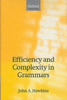 Efficiency and Complexity in Grammars, PDF eBook