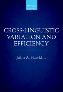 Cross-Linguistic Variation and Efficiency, PDF eBook