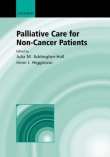 Palliative Care for Non-cancer Patients, Hardback Book